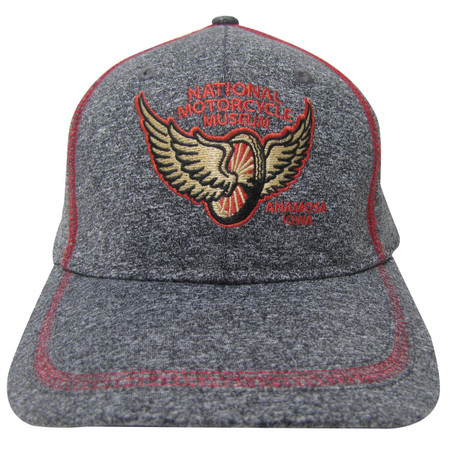 National Motorcycle Museum Winged Wheel Heather Gray Cap