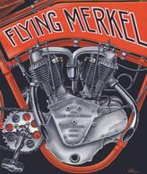 1914 Flying Merkel Race Engine Poster