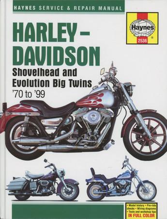 Haynes 2536 Service & Repair Manual - Shovelhead & Evo Big Twins '70-'99 front cover