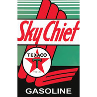 Texaco Sky Chief Gasoline Metal Sign