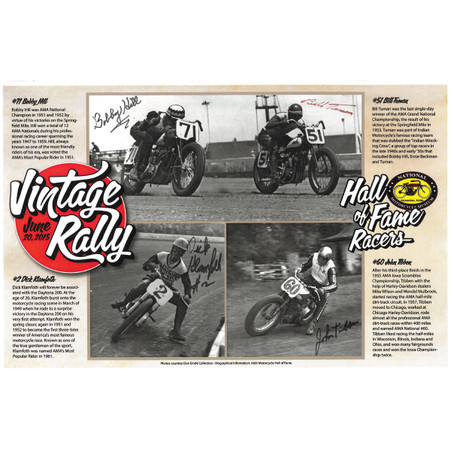 Hall of Fame Racers Autographed Poster