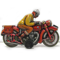 Friction Powered Motorcyclist Josef Tin Toy right side