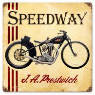 J. A. Prestwich Speedway Metal Sign