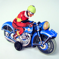 Friction Powered Motorcyclist