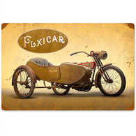 Harley-Davidson 'Flxicar' Motorcycle Metal Sign