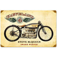 Cleveland 'Steve McQueen' Motorcycle Metal Sign