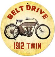 Harley-Davidson 'Belt Drive' Motorcycle Metal Sign
