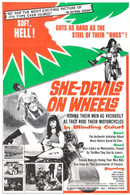 1968 'She-Devils On Wheels' Movie Poster