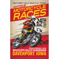 24th Annual 2012 Davenport Motorcycle Races Poster