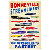 'Bonneville Streamliners' Motorcycle Metal Sign (Version 2)