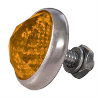 Glass Antique Style Gem-Cut Jewel Reflector - Amber