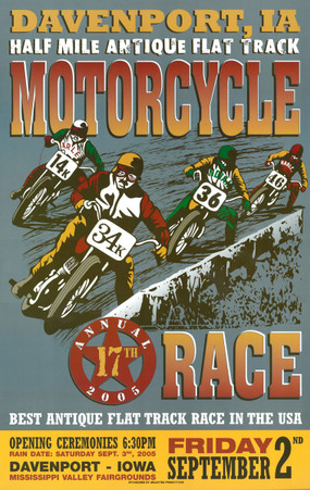 17th Annual 2005 Davenport Motorcycle Races Poster