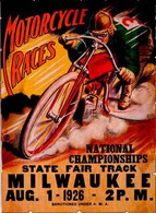1926 Milwaukee Mile Motorcycle Races Poster