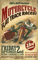 23rd Annual 2011 Davenport Motorcycle Races Poster