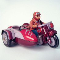 Wind Up Saturn Sidecar Tin Motorcycle