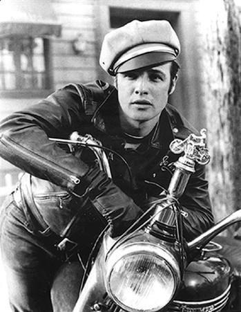 Marlon Brando 'The Wild One' Close-Up Movie Poster