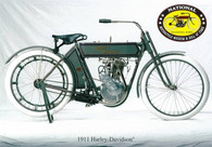 1911 Harley-Davidson Motorcycle Postcard