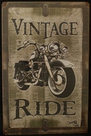 'Vintage Ride' Metal Sign