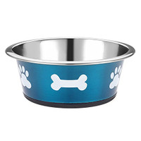 Classic Pet Products Classic Posh Paws Dish, 900 ml, Blue