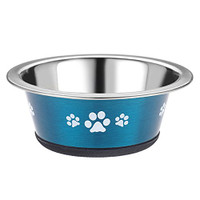 Classic Pet Products Posh Paws Cat Dish, 240 ml, Blue