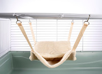 Fluffy Lined Hammock With Pouch: Luxury Cream
