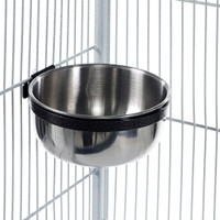 Metal Feeding Dish Bolt Bowl Coop Cup Medium 600ml