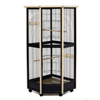 Tall All Metal Corner Aviary Cage - Great For Birds, Rats