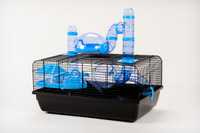 The Landmark Cage with Accessories 580x380x290 - Blue