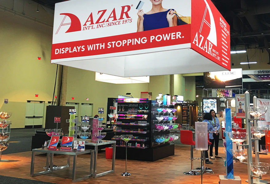 Azar Displays At Globalshop 2017 Mandalay Bay Convention Center