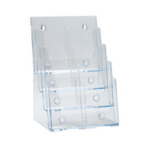 Four-Tier Eight-Pocket Trifold Brochure Holder