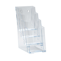 Four-Tier Four-Pocket Trifold Brochure Holder.