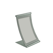 "5.5""W x 8.5""H Curved Metal Frame"