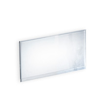 """Clear Acrylic Header Sign Holder For T-Sign Holder- Insert Your Own Graphic 11.875""""W X 6""""H"""