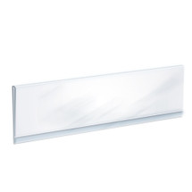 """Clear Acrylic Header Sign Holder- Insert Your Own Graphic 32""""W x 6""""H"""