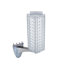 """Four-sided 4""""W x 12""""H Pegboard Tower with Extension Rod"""