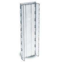 "13.5""W x 44""H Pegboard Powerwing Display - (CLEAR ONLY)"
