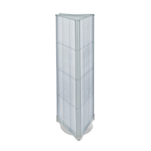 """Three-Sided Pegboard Tower Floor Display on Revolving Base. Panel Size: 16""""W x 60""""H"""