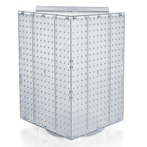 "Four-Sided Revolving 14""W x 20""H Pegboard Counter Display"