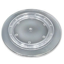 """14.5"""" Wide Revolving Display Base-SLOPED CLEAR"""