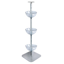 "Three-Tiered 12"" Bowl Floor Display"