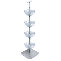 "Four-Tiered 12"" Bowl Floor Display"