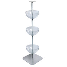 "Three-Tiered 14"" Bowl Floor Display"
