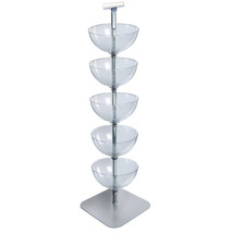 "Five-Tiered 14"" Bowl Floor Display"