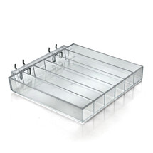 Six Compartment Acrylic Tray for Pegboard / Slatwall  / Counter