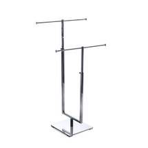 Two-Tier Adjustable Chrome Necklace Counter Display