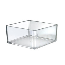 "8"" Deluxe Clear Square Bin"