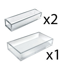 Deluxe Tray 3 Piece Set - Narrow Trays and Large Tray