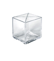 """4"""" Cube Pencil Holder with Divider"""