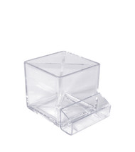 """4"""" Cube Pencil Holder with Divider & Business Card Pocket"""