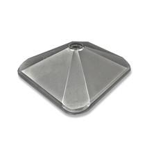 """16"""" Square Silver Plastic Base"""